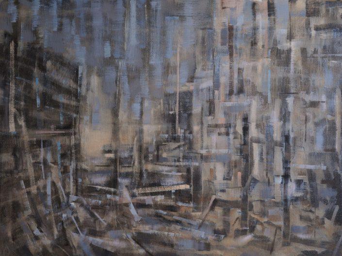 Sin título, 2013. Óleo sobre lienzo. 61x100 cm