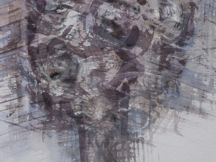 Conciencia, 2015. Acuarela sobre papel, 35x29 cm