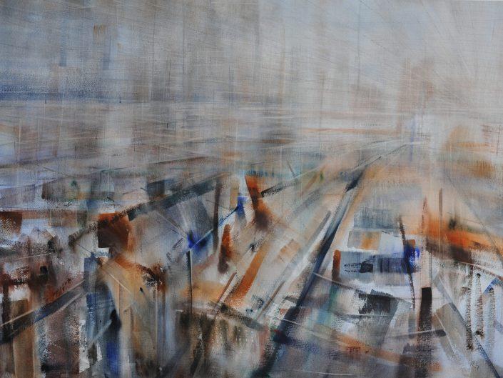 Infierno, 2014. Acuarela sobre papel, 57x76 cm