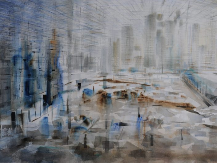 Metropolis, 2014. Watercolor on paper, 70x102 cm