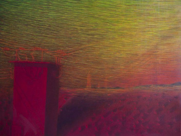 Sin título, 1999-2001. Acrílico sobre lienzo, 89x116 cm