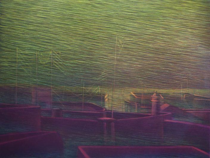 Sin título, 2000-2002. Acrílico sobre lienzo, 89x116 cm