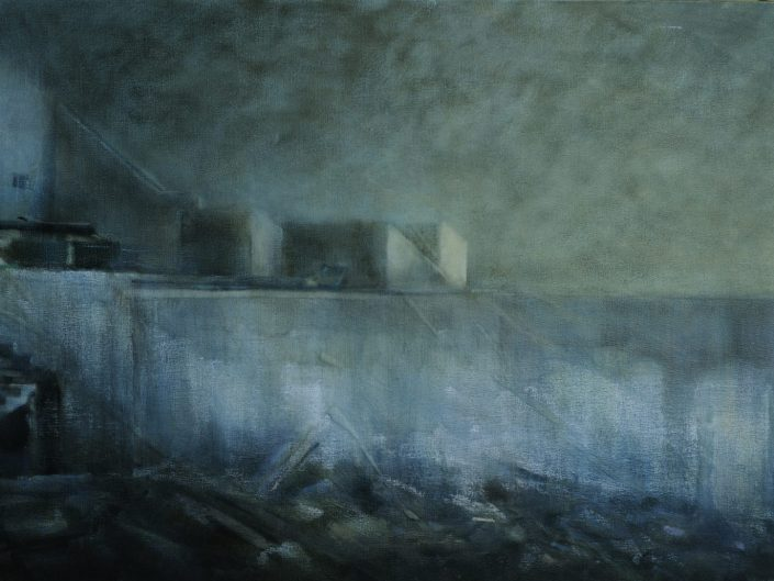 Untitled, 2013. Oil on canvas, 65x130 cm