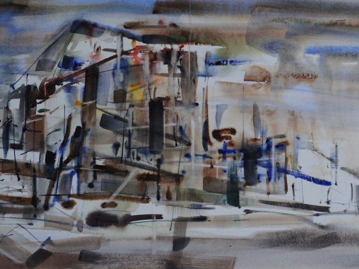 Untitled, 2014. Watercolor on paper, 26x56 cm