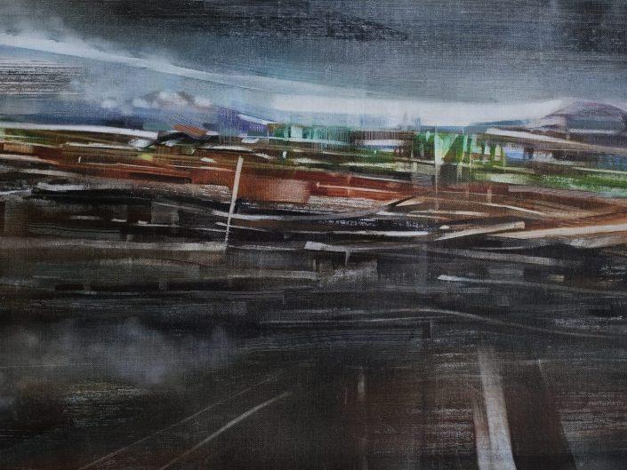 0. Sin título, 2017. Óleo sobre lienzo 50,5x 91,5 cm