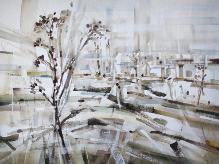 0. Untitled, 2018. Acrylic on wood, 61x83 cm
