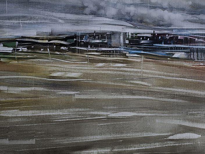 1. Sin título, 2017. Óleo sobre lienzo 50,5x 91,5 cm