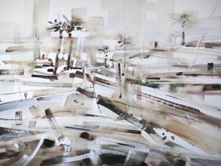1. Untitled, 2018. Acrylic on wood, 61x83 cm