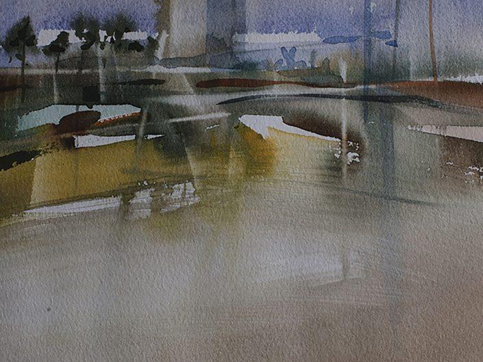 2. Sin título, 2017. Acuarela sobre papel, 17,5x25 cm