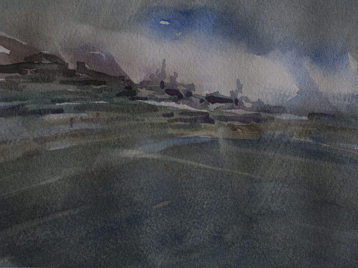 8. Sin título, 2017. Acuarela sobre papel, 17,5x25 cm