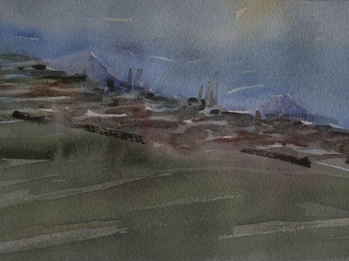 9. Sin título, 2017. Acuarela sobre papel, 17,5x25 cm