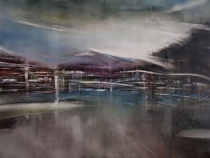Sin título, 2017. Óleo sobre lienzo, 92,5x141,5 cm