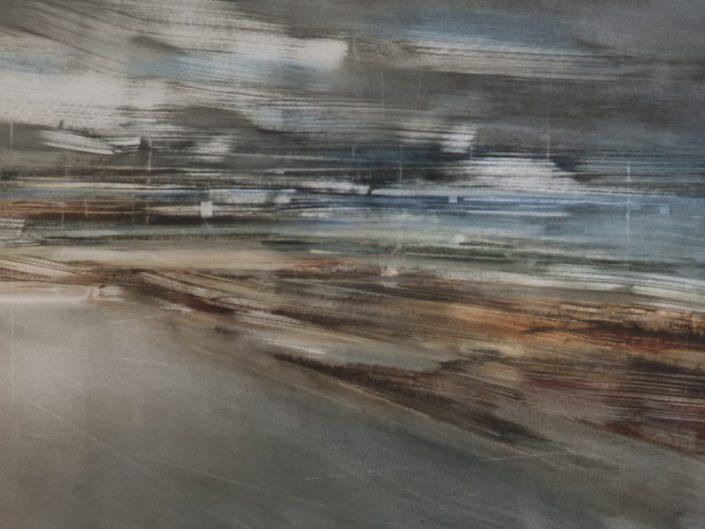 Sin título, 2019. Óleo sobre lienzo, 55x144cm